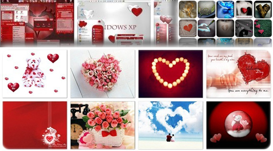 Happy Valentines Day – 57 Wallpapers, 40 Fonts, 147 Hearts Graphics,