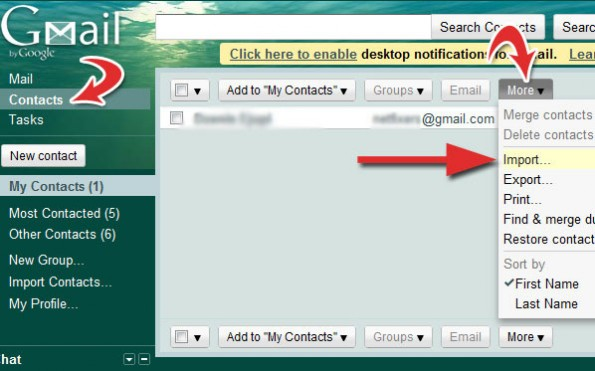 import yahoo contacts to gmail and goole plus