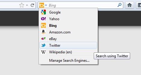 Twitter search bar in Firefox 8