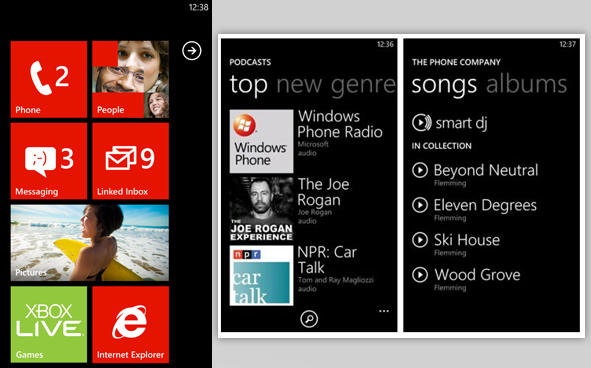 Windows Phone 7 User Interface