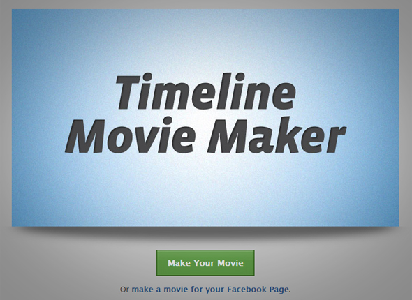 Screenshot of facebook timeline movie maker