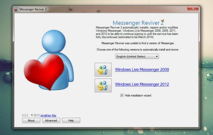 Messenger Reviver Utility